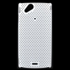 Mesh Protective PC Plastic Back Case for Sony Ericsson Xperia ARC LT15i X12 - White
