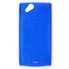 Mesh Protective PC Plastic Back Case for Sony Ericsson Xperia ARC LT15i X12 - Blue