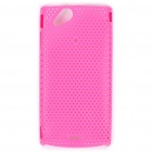 Mesh Protective PC Plastic Back Case for Sony Ericsson Xperia ARC LT15i X12 - Pink