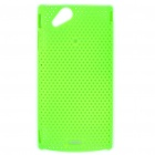 Mesh Protective PC Plastic Back Case for Sony Ericsson Xperia ARC LT15i X12 - Green