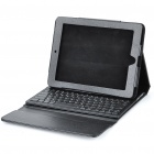 84-Key 2.4GHz Bluetooth 3.0 Wireless Keyboard w/ PU Leather Case for iPhone 4/iPad/iPad 2/Android