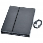 84-Key 2,4 GHz Bluetooth 3.0 Wireless Keyboard w / PU-Leder Tasche für iPad / iPad 2 - Schwarz