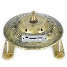 Cool UFO Style MP3 Music Speaker Player with USB/FM/SD/Remote Controller - Bronze