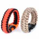 Survival Bracelet with Whistle - Color Assorted