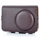 Vintage Protective PU Leather Carrying Bag with Strap for Nikon P300 - Brown