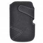 Protective PU Leather Case with Velcro for Samsung I9100/I9000 - Black