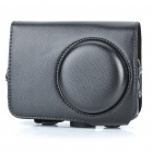 Vintage Protective PU Leather Carrying Bag with Strap for Nikon P300 - Black