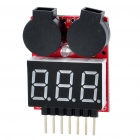 1S-6S LiPo Battery Voltage Checker Tester with Dual-Speaker Low Voltage Buzzer Alarm