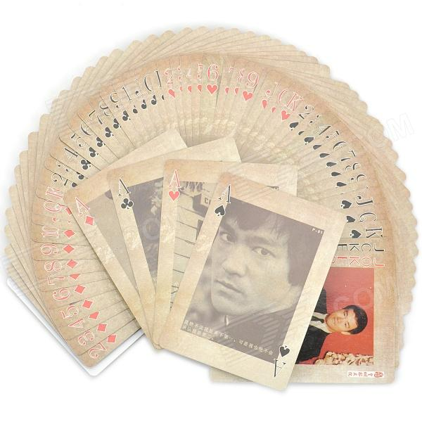 Vintage Bruce Lee's Private Album Style Paper Playing Cards Poker Set (54-Piece Set)