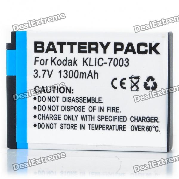 Compatible 3.7V 1300mAh Replacement Rechargeable Battery Pack for Kodak K7003