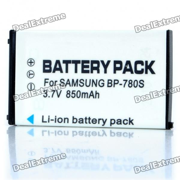 Compatible 3.7V 850mAh Replacement Rechargeable Battery Pack for Samsung BP-780S bp 208 compatible 850mah battery pack for canon mvx1sidc10 dc20 more