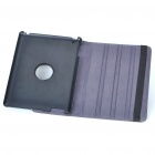 Protective 360 Degree Rotation Holder Snakeskin Pattern PU Leather Case for Ipad 2 - Black