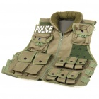 Police Style War Game Military Tactical Combat Multi-Pocket Vest - Army Green