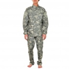 Military Army Camouflage Shirt + Pants Set Suit Uniform - Random Color (Size M)