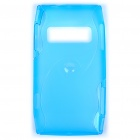 Protective TPU Back Case for Nokia X7-00 - Translucent Light Blue
