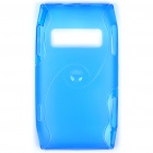 Protective TPU Back Case for Nokia X7-00 - Translucent Blue