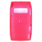 Protective TPU Back Case for Nokia X7-00 - Translucent Red