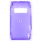 Protective TPU Back Case for Nokia X7-00 - Translucent Purple