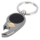 Mini Metal White LED Flashlight Bottle Opener Keychain with Car Logo - Nissan (1 x CR1220)