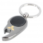 Mini Metal White LED Flashlight Bottle Opener Keychain with Car Logo - Mitsubishi (1 x CR1220)