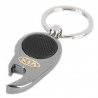 Mini Metal White LED Flashlight Bottle Opener Keychain with Car Logo - KIA (1 x CR1220)