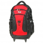"Water Resistant 15 ""Laptop Travel Backpack Doppel Shoulder Bag - Schwarz + Rot"