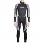 Fashion Long Sleeves Surfing Suit - Black + Grey (Size L)
