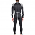 Fashion Long Sleeves Surfing Suit - Black + Grey (Size XXL)