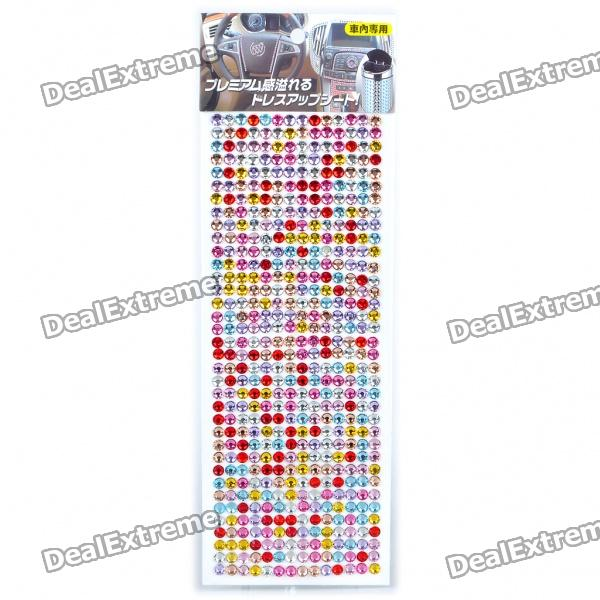Charming DIY Crystal Sticker for Car/Cell Phone/PSP/Camera - Color Assorted (504 Piece/Sheet) realistic cookies charming cell phone straps assorted 2 pack