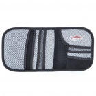 Auto Car Sunshade Board with CD Storage Bag - Black + Silver Grey