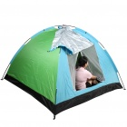 Portable Three-Person Camping Tent with Carrying Bag - Blue + Green + Black