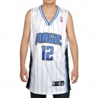 NBA Orlando Magic # 12 Howard Jersey - Weiß + Blau (Größe 54)