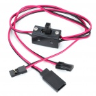 3-Wire Switch Harness with Charging Leads for R/C Helicopter (43cm-Cable)