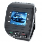 "1.33"" Touch Screen Wrist Watch Style Dual SIM Dual Network Standby Quadband GSM Cell Phone - Black"