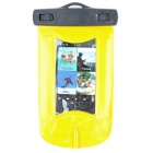 Waterproof PVC Pouch for iPhone 3G/4 w/ 3.5mm Audio Jack - Black + Yellow