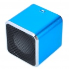 "1.4"" LCD Mini USB Rechargeable MP3 Player Speaker w/ Alarm Clock/TF/USB/Line In/3.5mm Jack - Blue"