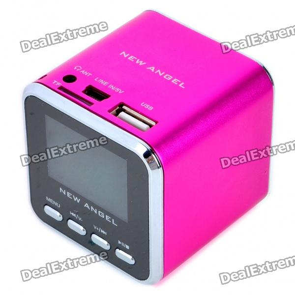 1 4 Lcd Mini Usb Rechargeable Mp3 Player Speaker W Alarm