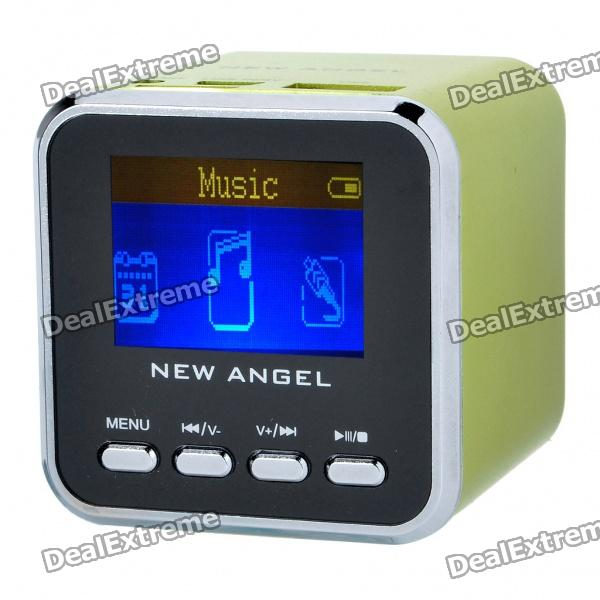 1.4 LCD Mini USB Rechargeable MP3 Player Speaker w/ Alarm Clock/TF/USB/Line In/3.5mm Jack - Green easy steps to chinese vol 1 textbook 1cd workbook1 english french german spanish italian traditional chinese version