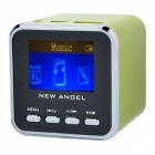 "1.4"" LCD Mini USB Rechargeable MP3 Player Speaker w/ Alarm Clock/TF/USB/Line In/3.5mm Jack - Green"