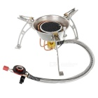 Compact Portable Windproof Camping Gas Stove with Metal Gas Pipe (2 x AG3)