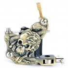 Carbon Alloy Tattoo Machine Gun - Skull Head & Snake