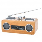 Portable Bamboo SD/USB MP3 Music Speaker with FM Radio (3.5mm Jack)