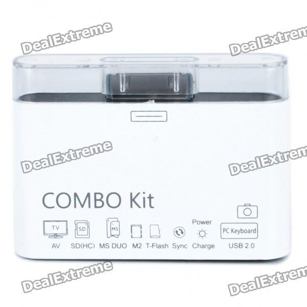 Combo Connection Kit for Apple iPad / iPhone 4 / iPod - White