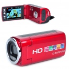 "2.7"" TFT HD 3.0M Pixel CMOS Digital Video Camera with 4X Digital Zoom/AV OUT/SD - Red"