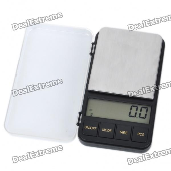 2.4 LCD Portable Jewelry Digital Pocket Scale - 500g/0.1g (2xAAA) compact portable 2 0 lcd digital personal body weight scale 2 aaa 0 3 150kg
