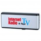 USB Worldwide Internet TV & Radio Stations Player Dongle - Silver + Black