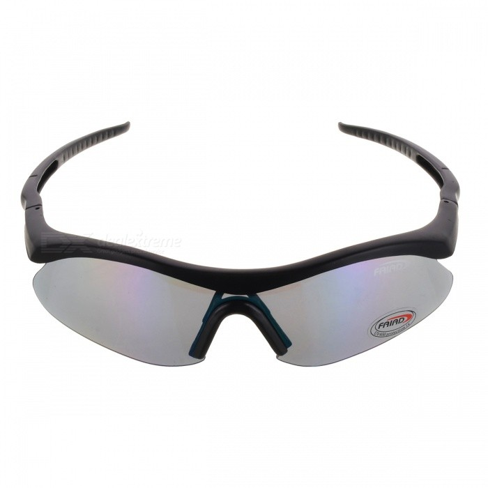 UV400 Protection Plastic Frame Resin Lens Goggle Shooting Glasses