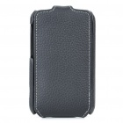 Protective Cow Leather Case w/ Strap for HTC G13/HD