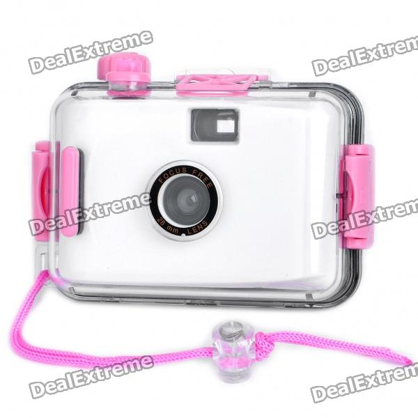 Twins Star 35mm Film Lomo Camera w/ Waterproof Casing - White