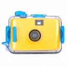 Twins Star 35mm Film Lomo Camera w/ Waterproof Casing - Yellow